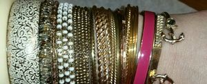 Jewelry - Bundle of Gold Bangles 30 different types